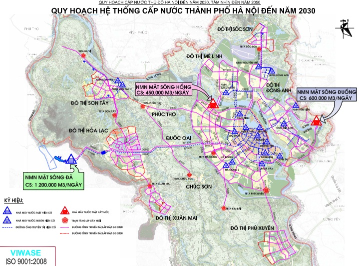 Master Plan for Hanoi Water Supply System to 2030 and Vision to 2050